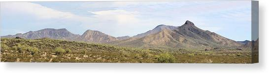 Sierra Estrella Mountains Panorama Canvas Print by Sharon Broucek