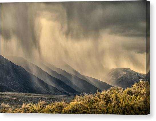 Sierra Storm From Panum Crater Canvas Print