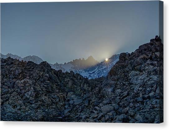 Sierra Sun Burst Canvas Print