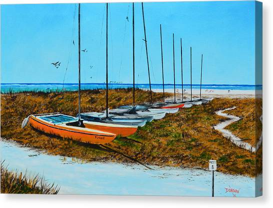 Siesta Key Access #8 Catamarans Canvas Print