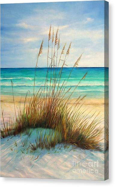 Seascapes Canvas Print - Siesta Key Beach Dunes  by Gabriela Valencia