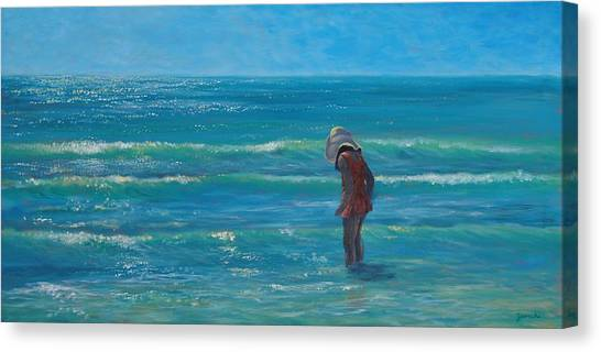 Siesta Key Searching Canvas Print