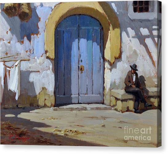 Siesta Time In Naples Canvas Print