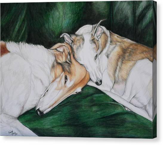 Sighthound Comfort Canvas Print