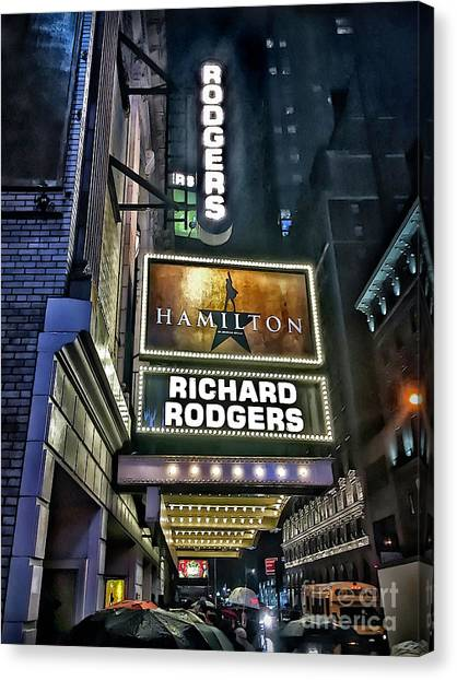 Sights In New York City - Hamilton Marquis Canvas Print