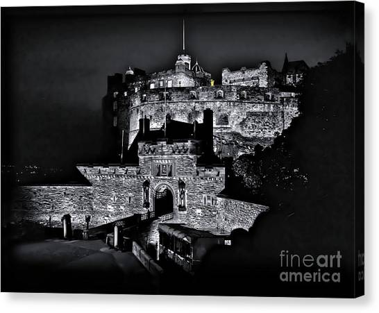 Bagpipes Canvas Print - Sights In Scotland - Castle Bagpiper by Walt Foegelle