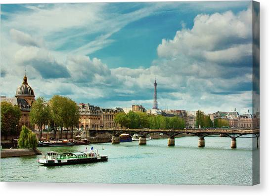Sightseeing On The River Seine Canvas Print