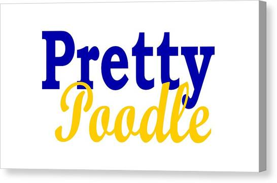 Sigma Gamma Rho Canvas Print - Sigma Gamma Rho Pretty Poodle by Sincerely Lovely T's