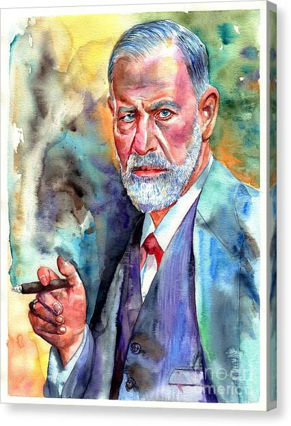 Medicine Canvas Print - Sigmund Freud Painting by Suzann's Art