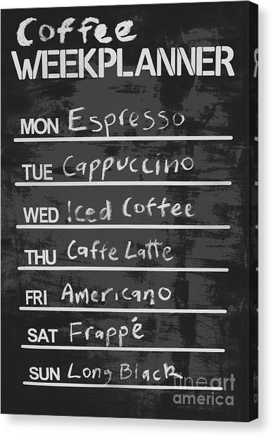 Cafes Canvas Print - Sign Of A Coffee Lover by Jorgo Photography - Wall Art Gallery