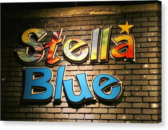 Sign Of Stella Blue Canvas Print