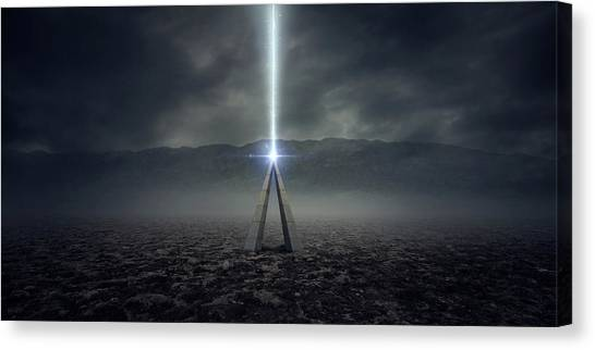 Aliens Canvas Print - Sign by Zoltan Toth