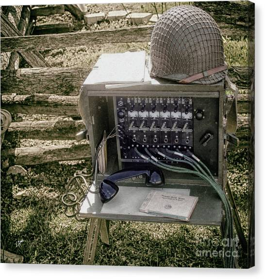Signal Corps U.s. Army  Canvas Print by Steven Digman