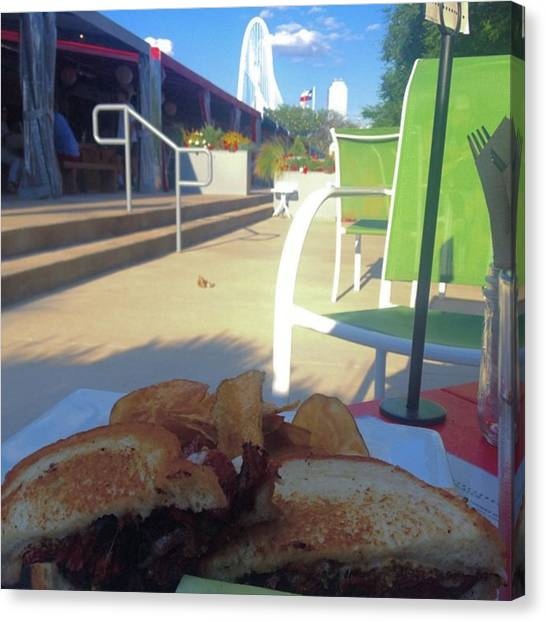 Sandwich Canvas Print - Signature Pastrami #sandwhich #luck by Laura Ramirez