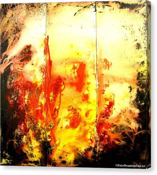 Signed By Fire Canvas Print by Peter Dranitsin