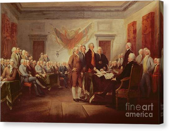 Roger Canvas Print - Signing The Declaration Of Independence by John Trumbull