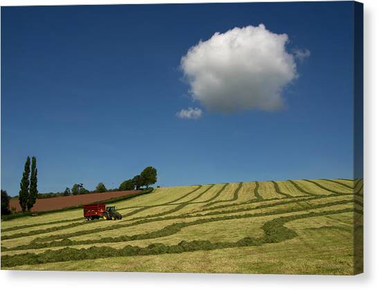 Silage Making  Canvas Print