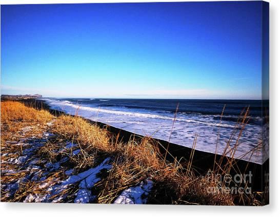 Silence At Black Sand Beach Canvas Print