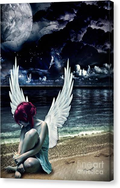 Mo Canvas Print - Silence Of An Angel by Mo T