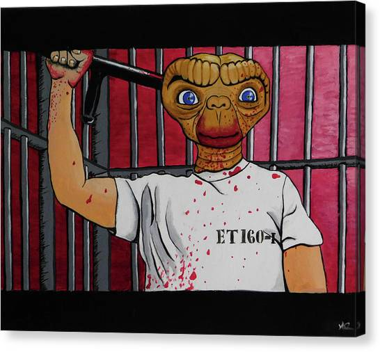 Silence Of The Lambs Canvas Print - Silence Of The E.t.  by Nils Dahlgren