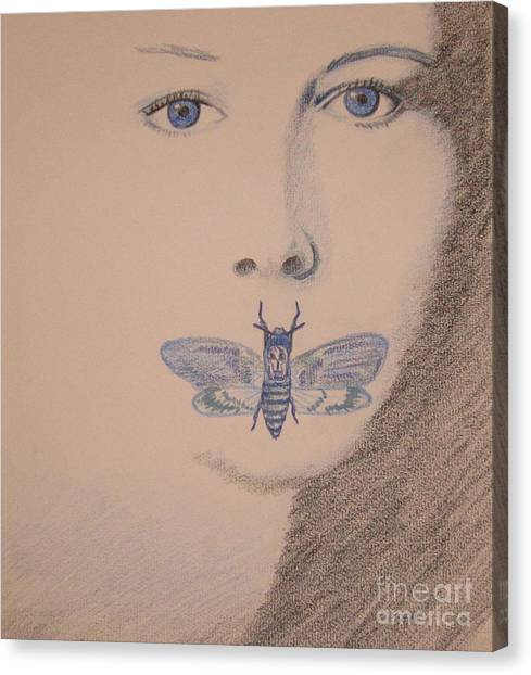 Silence Of The Lambs Canvas Print - Silence Of The Lambs by Kimberly Witz