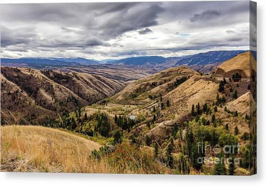 Silence Of Whitebird Canyon Idaho Journey Landscape Photography By Kaylyn Franks  Canvas Print