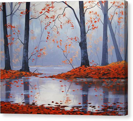 Amber Canvas Print - Silent Autumn by Graham Gercken