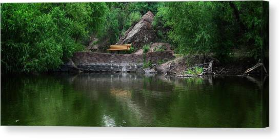 Canvas Print featuring the photograph Silent Company by Elaine Malott