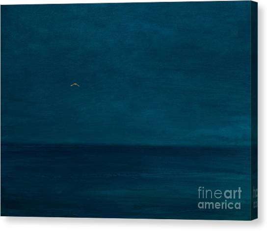 Murky Canvas Print - Silent Flight, 2016 Oil And Gold Leaf On Panel by Angus Hampel