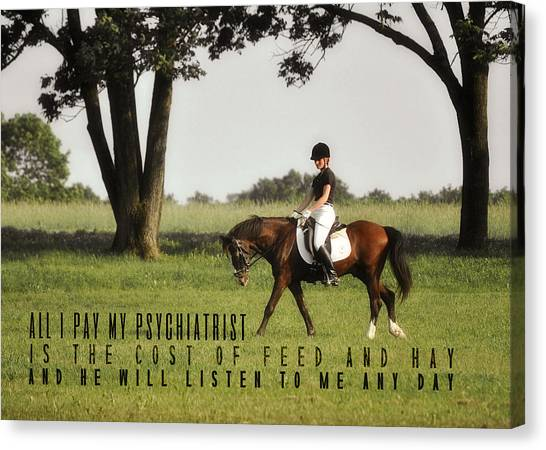 Silent Hoofbeats Quote Canvas Print