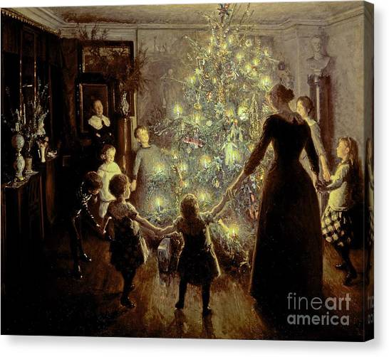 Xmas Canvas Print - Silent Night by Viggo Johansen