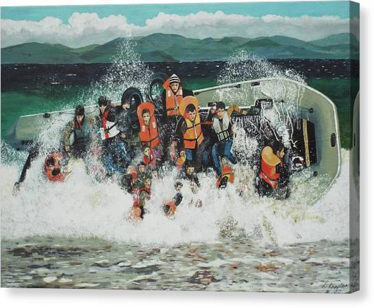 Canvas Print featuring the painting Silent Screams by Eric Kempson