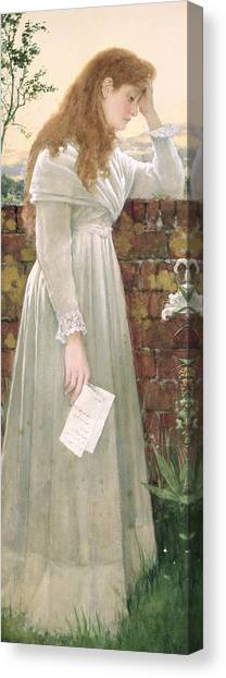 Sadness Canvas Print - Silent Sorrow by Walter Langley
