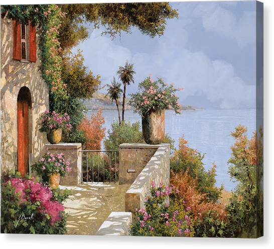 Red Door Canvas Print - Silenzio by Guido Borelli
