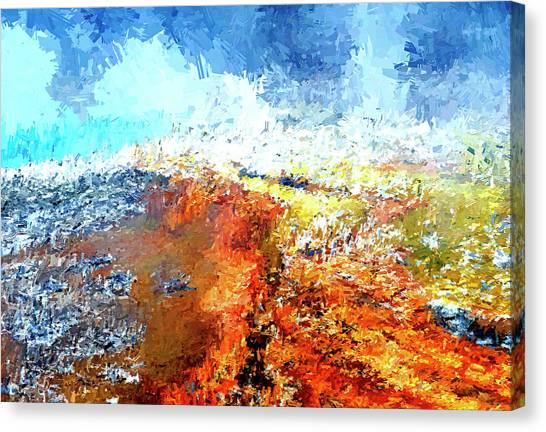 Silex Hot Springs Abstract Canvas Print