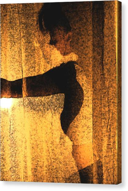 Silhouette Canvas Print by B and C Art Shop