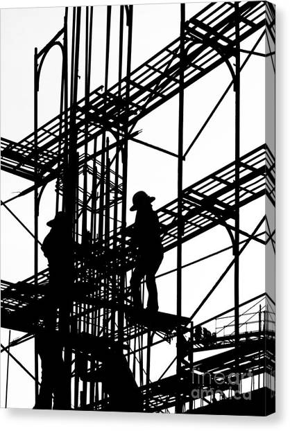 steel beam canvas prints page 4 of 16 fine art america Metal Beams for Decks steel beam canvas print silhouette of construction workers by yali shi