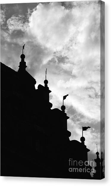 Silhouette Of The Roof In Rothenburg Germany Canvas Print by Hideaki Sakurai
