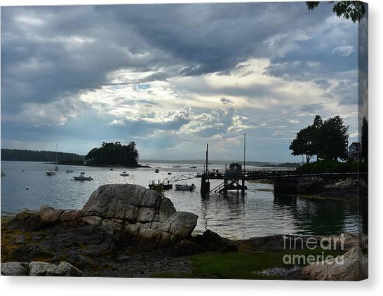 Silhouetted Views From Bustin's Island In Maine Canvas Print