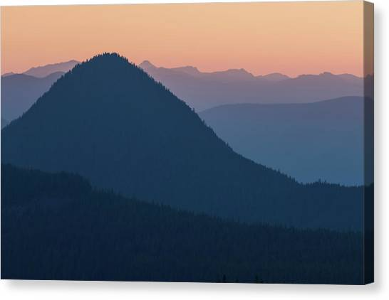 Canvas Print featuring the photograph Silhouettes At Sunset, No. 2 by Belinda Greb