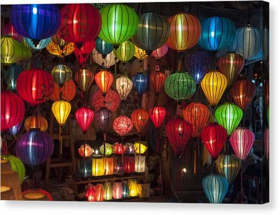 Silk Lanterns Canvas Print