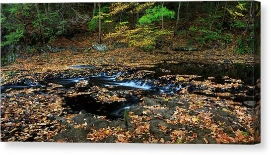 Silky New England Stream In Autum Canvas Print