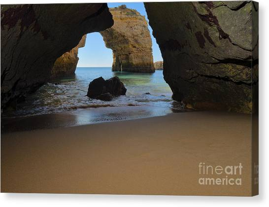 Silky Sands And Arch Canvas Print