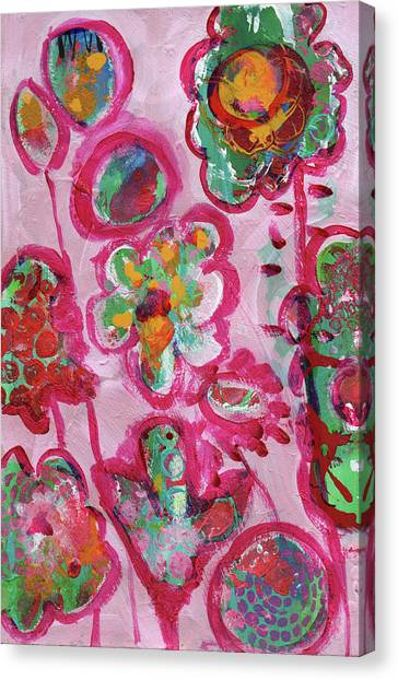 Silly Flowers Canvas Print