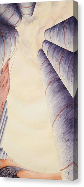Canvas Print featuring the painting Silos Iv by Scott Kirby