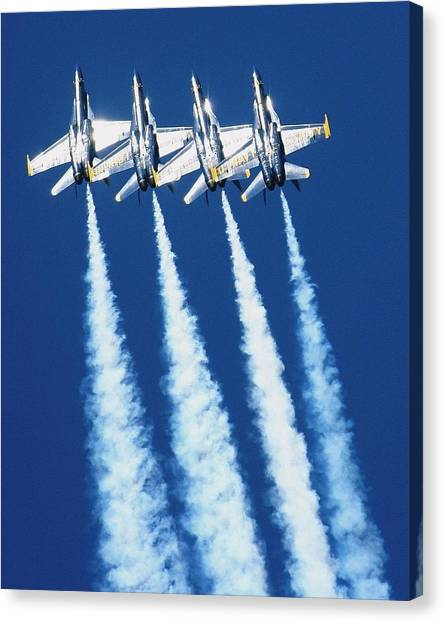 Silver Angels Canvas Print by Melanie Beasley