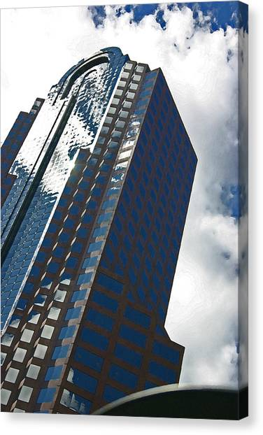 Silver Building Canvas Print by Beebe  Barksdale-Bruner