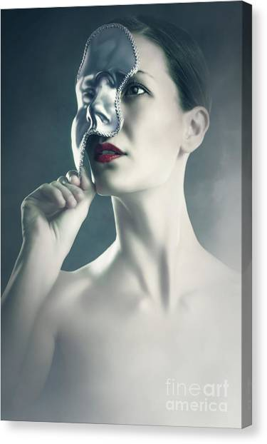 Canvas Print featuring the photograph Silver Face by Dimitar Hristov