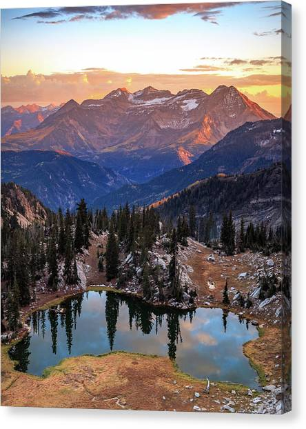 Silver Glance Lake Ig Crop Canvas Print