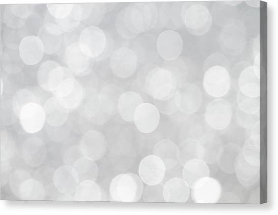Silver Grey Bokeh Abstract Canvas Print